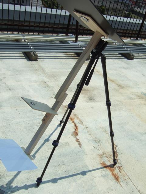 日食観察システム 100円老眼鏡とルーペを利用