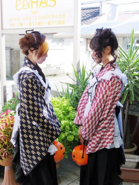 愛媛県松山市 ハロウィンコスプレ衣装レンタルヘアーメイク ロハスヘアー