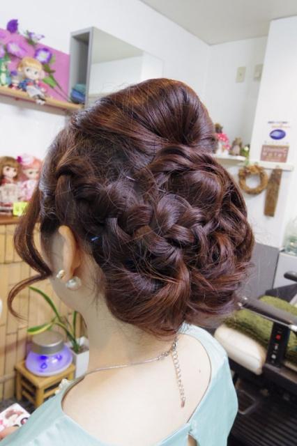 愛媛県松山市 結婚式ゲストヘアメイク 美容室 ロハスヘアー