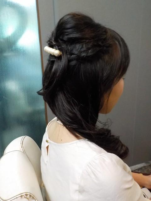 結婚式ゲストヘアー 愛媛県松山市 美容室 ロハスヘアー