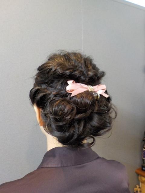 結婚式ゲストヘアー 愛媛県松山市 ヘアメイク 着付け 美容室 ロハスヘアー