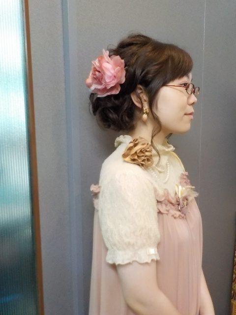 愛媛県松山市 美容室 ヘアメイク 着付け 結婚式お呼ばれヘアメイク ロハスヘアー